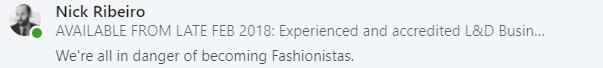 L&D fashionistas